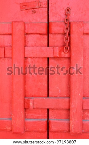 Traditional thai style Red windows