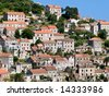 Traditional village on island Lastovo, Croatia - stock photo