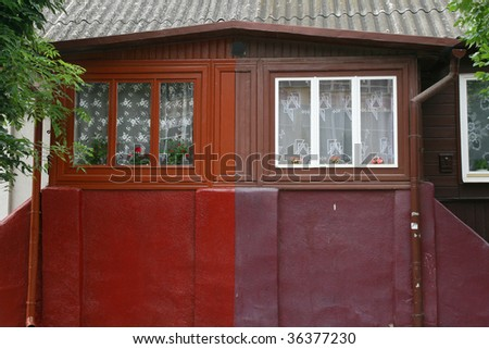 House gateway stock photo 67932817 shutterstock - Traditional polish houses wood mastership ...