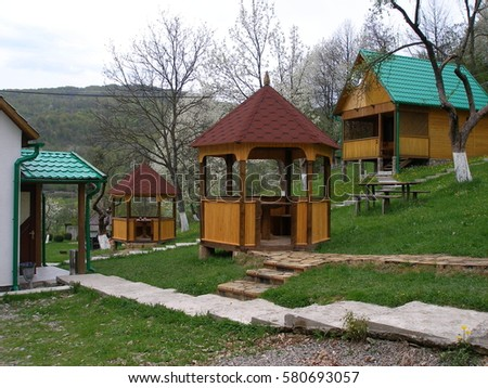 Beautiful house ukraine on sunny day stock photo 122572414 shutterstock - Traditional polish houses wood mastership ...