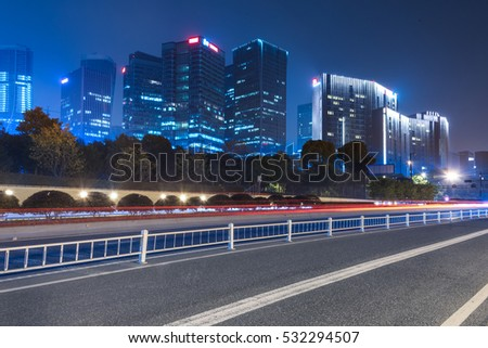 Traffic road in downtown of Hong Kong,China.