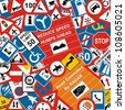 Traffic Signs Background - stock photo