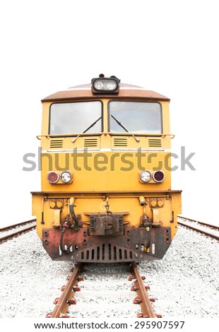 Train , isolated on white background