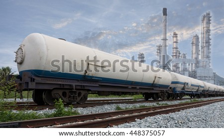 train on a background gas industry.