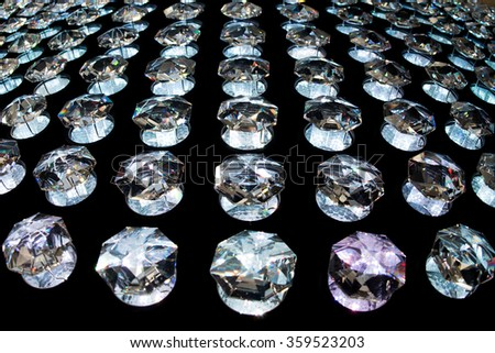 transparent crystals background light texture