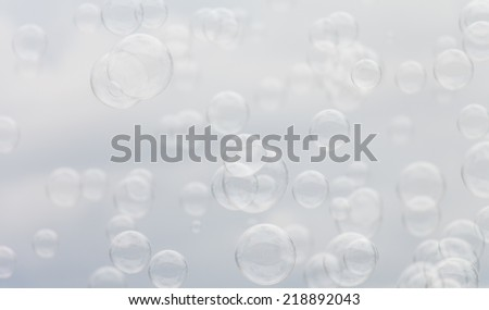 Transparent soap bubbles abstract backgrounds