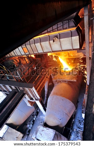 transporting molten steel inside of plant