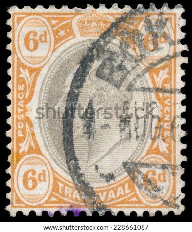 TRANSVAAL COLONY - CIRCA 1902: A stamp printed in United Kingdom shows King George V, circa 1902.