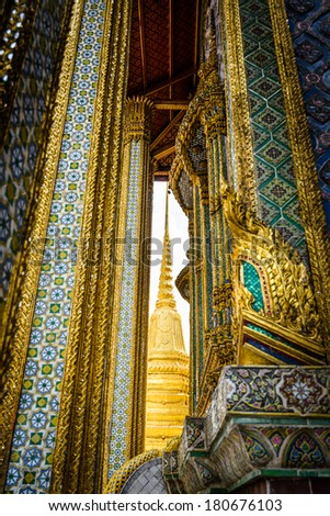 Travel background-architecture details of Grand Palace in Bangkok,Thailand
