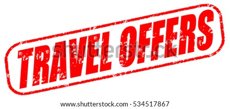 travel offers red stamp on white background.
