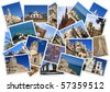 Traveling around Spain in collage with several shots - stock photo