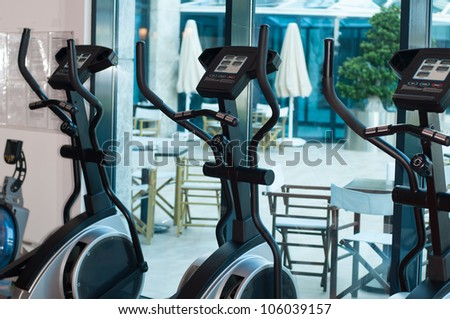 Treadmill in the gym