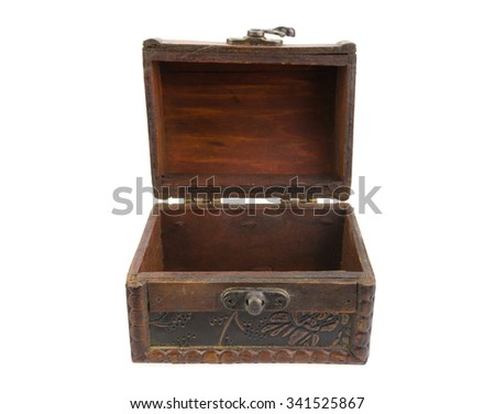 Treasure chest on white background