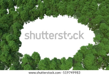 Tree / Plant / 3D abstract on white background Perfect for your presentations.