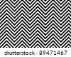 Trendy chevron patterned background black and white - stock vector