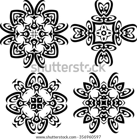 Tribal Tattoo Design Raster Illustration