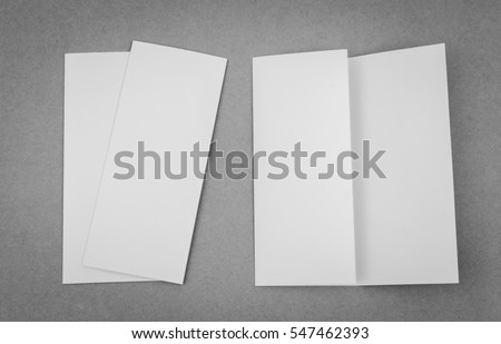 Blank trifold brochure stock illustration 129971648 for Cardboard brochure holder template