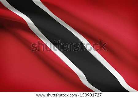 Trinidadian flag blowing in the wind. Part of a series.
