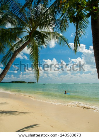 Tropical beach of Koh Samui island in Thailand