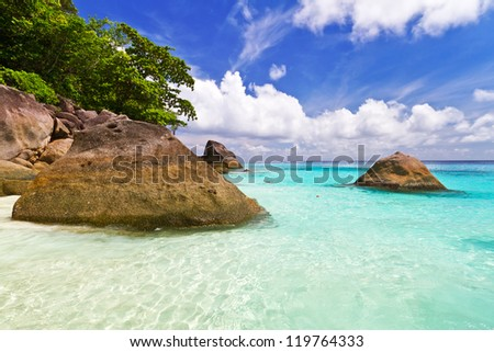 Tropical scenery of Similan islands, Thailand