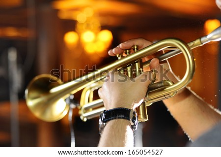 Trumpeter in a nightclub