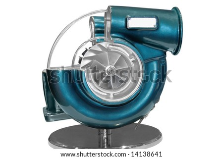Turbocharger isolated on a white background