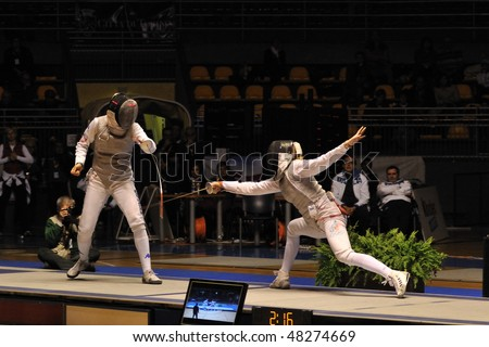TURIN, FEB 7: Women Foil World Cup, team tournament final match Italy vs Russia on February 7, 2010 in Turin, Italy.