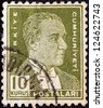 TURKEY - CIRCA 1931: A stamp printed in Turkey shows a portrait of Kemal Ataturk, circa 1931. - stock photo