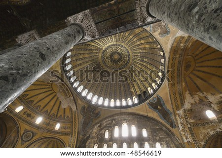 Turkey, Istanbul, St. Sophia Cathedral (built in the 4th century by Costantine the Great and reconstructed in the 6th century by Justinian