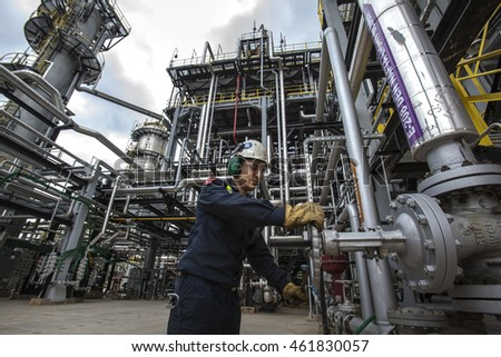 Turkey - June 22,2015 :Tupras Izmit petroleum refinery. Tupras is Turkey's largest oil refinery.