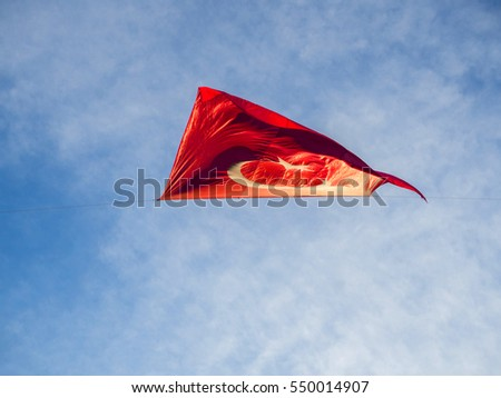 Turkish flag on blue sky