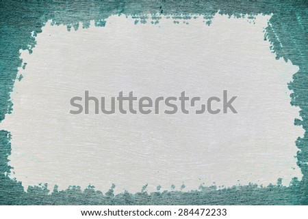 Turquoise ragged wall. Background.