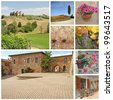 tuscan images collage, Italy, Europe - stock photo