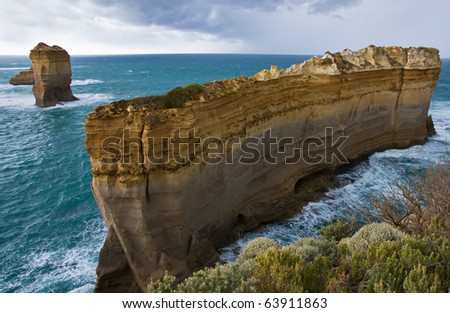 Twelve Apostles national park in Australia, ocean storm