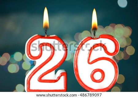 Cake Candles Numbers Stock Vector 53351416 - Shutterstock