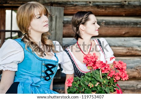 Two Austrian Women in a Dirndl