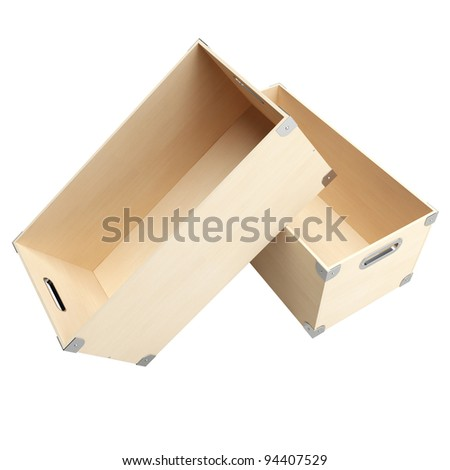 Two boxes from plywood for things