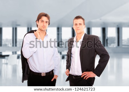 Two business men at the office