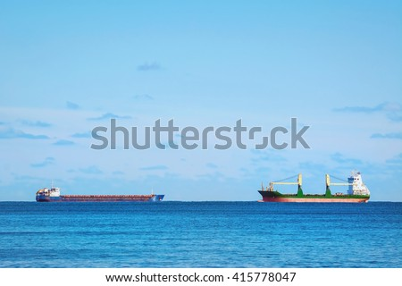 Two Cargo Ships in the Black Sea