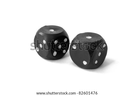 "two dices with ""one' on top sides"
