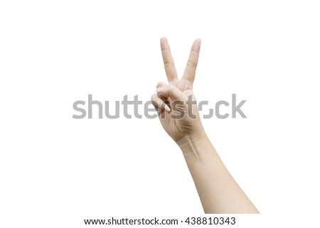 Two fingers isolated on white background. Clipping path