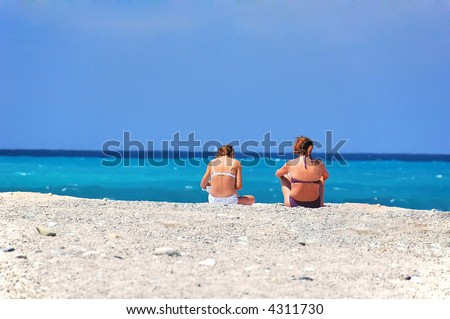 Two girls on a vacation