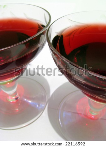 two glass of red vine