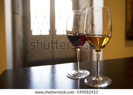 Two glasses of Port wine