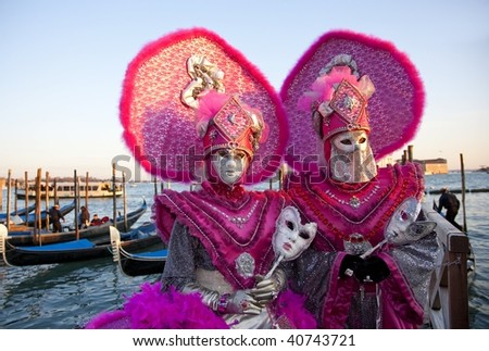 Two Masks on the pier