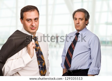 two maure business men at the office