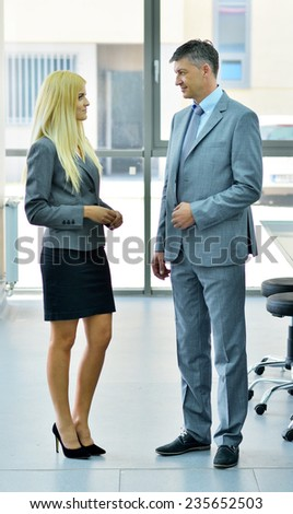two people on a business conversation