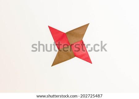 One Shuriken Origami Shuriken Arms Ninja Stock Photo 202725490