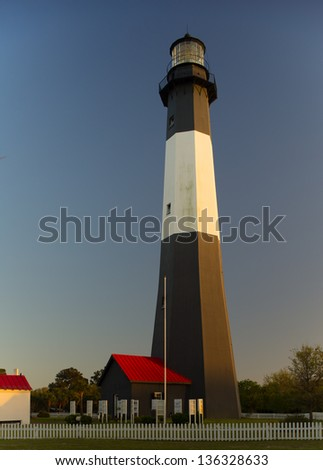 Tybee Island Lighthouse at sunset