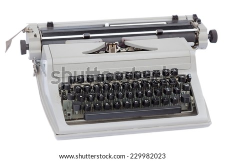 Typewriter isolated on white